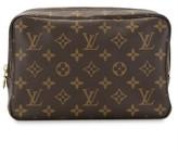 Louis Vuitton logo print cosmetic pouch