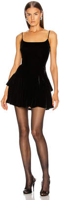 Alexander Wang Velvet Fit and Flare Dress in Black | FWRD