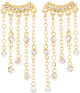 Rebecca Minkoff 12k Gold-Plated Crystal Fringe Drop Earrings
