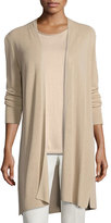 Eileen Fisher Long Ribbed Cardigan, Aurora, Petite
