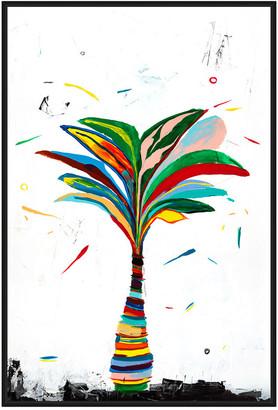 Jonathan Bass Studio Delos Palm 2, Decorative Framed Hand Embellished C