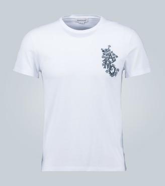 Alexander McQueen Embroidered AMQ T-shirt