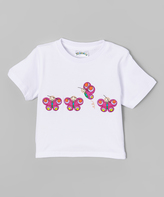 Kidorable White Butterfly Tee - Infant
