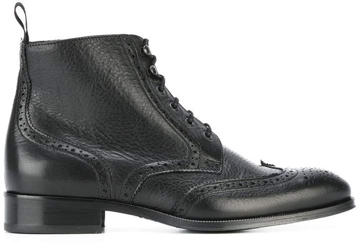 B Store brogue detail boots