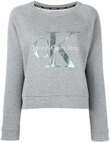 Calvin Klein Jeans logo print sweatshirt - women - Cotton - L