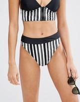 Evil Twin Stripe Contrast Triangle Bikini Bottoms