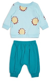 Peek Unisex Charley Cotton Sunshine Print Top & Solid Pants Set - Baby