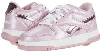 Heelys Reebok BB4500 Low (Little Kid/Big Kid) (White/Classic Pink/Sparkle) Girl's Shoes