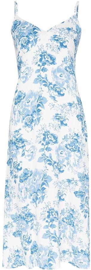 Reformation Nella floral-print slip midi dress