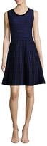 T Tahari Daphne Wool Intarsia Flared Dress