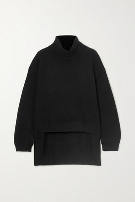 Tom Ford Asymmetric Cashmere Turtleneck Sweater - Black