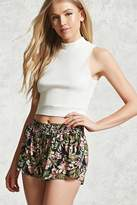 Forever 21 FOREVER 21+ Tropical Floral Print Shorts