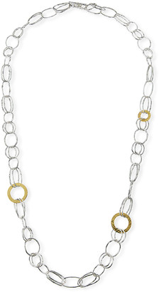 Ippolita Chimera Classico Mixed Wire and Hammered Disc Necklace