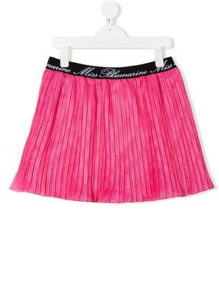 Miss Blumarine Logo Waist Skirt