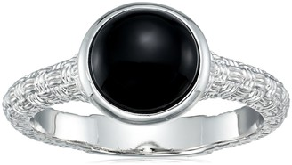 Effy Womens 925 Sterling Silver Onyx Ring