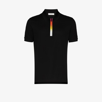Givenchy Gradient Logo Zip Polo Shirt