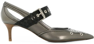 Bottega Veneta antique silver calf Mary Jane