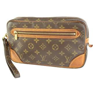 Louis Vuitton Vintage Brown Cloth Clutch Bag