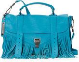Proenza Schouler Turquoise PS1 Medium Fringe Satchel