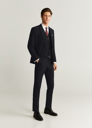 MANGO MAN - Slim fit suit gilet black - 38 - Men