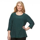 Croft & Barrow Plus Size Jacquard Wave Tee
