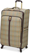 "London Fog Knightsbridge 29"" Expandable Spinner Suitcase, Available in Brown and Grey Glen Plaid, Macy's Exclusive Colors"