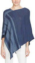Lauren Ralph Lauren Cotton Linen Poncho, Dark/Light Indigo