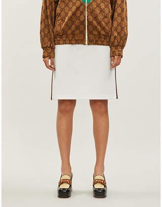 Gucci Contrast-trim cotton-jersey skirt