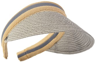 HISSHE Women Golf Visor Beach Straw Sun Hat Visors Cap (Grey)