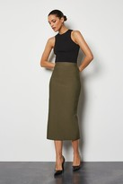 Knitted Midi Pencil Skirt