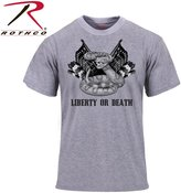 Rothco 'Liberty or Death' T-Shirt - Grey, 2X Large