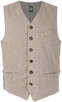 Eleventy buttoned waistcoat - men - Cotton/Spandex/Elastane - S