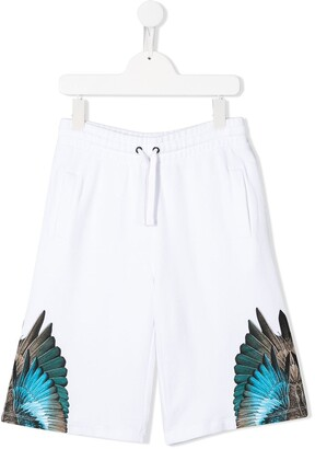 Marcelo Burlon County Of Milan Kids Wings wide-leg track shorts