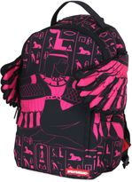 Pink Goddess Printed Backpack With Wings