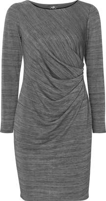 Wallis PETITE Grey Ruched Side Dress