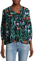 Kate Spade Women's Jardin Floral Silk Blouse