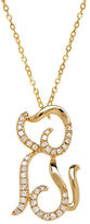 Lord & Taylor 14K Yellow Gold Diamond Dog Necklace