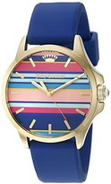 Juicy Couture Women's 1901428 Jetsetter Quartz Gold-Tone and Blue Silicone Watch