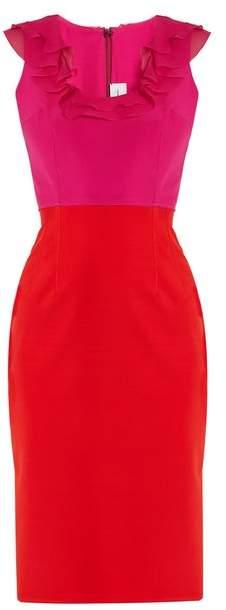 Emilio De La Morena Unelle ruffle-embellished silk-blend dress