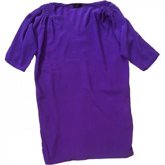 Et Vous Purple Silk Dress for Women
