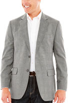 STAFFORD Stafford Travel Year-Round Gray Prince of Wales Sport Coat