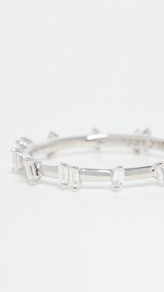 Suzanne Kalan 18k White Gold White Diamond Barbwire Ring