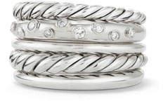 David Yurman Pure Form Wide Ring w/ Diamonds