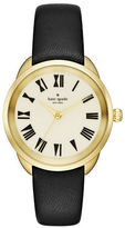 Kate Spade New York Crosstown Leather Strap Watch