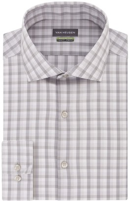 Van Heusen Men's Recycled Slim Fit Spread Collar Dress Shirt