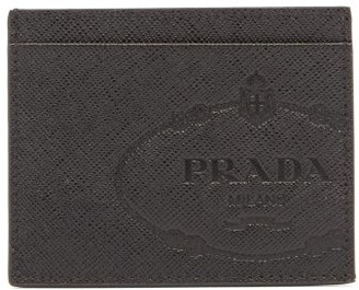 Prada Savoy Saffiano-leather Cardholder - Black White
