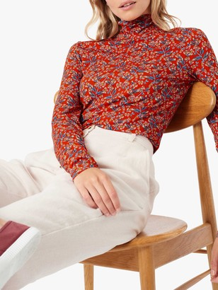 Brora Liberty Jersey Floral Polo, Poppy Floral