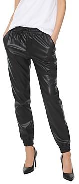 MICHAEL Michael Kors Faux-Leather Jogger Pants
