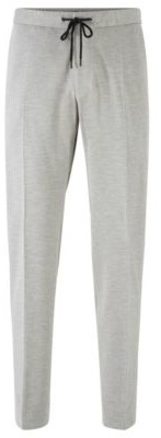 HUGO BOSS Slim Fit Pants In Stretch Fabric With Elasticated Waistband - Grey