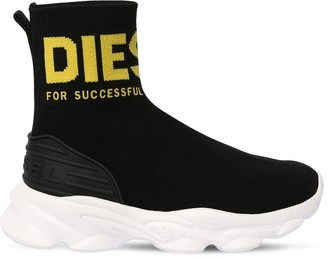 Diesel Knit Sock Slip-on Sneakers